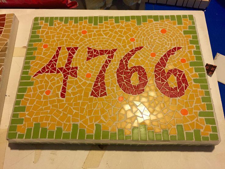Mosaic house number Fernanda Elortegui