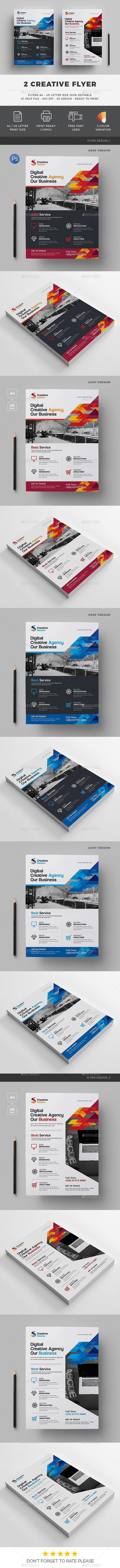 Flyer 2 Design Templates PSD