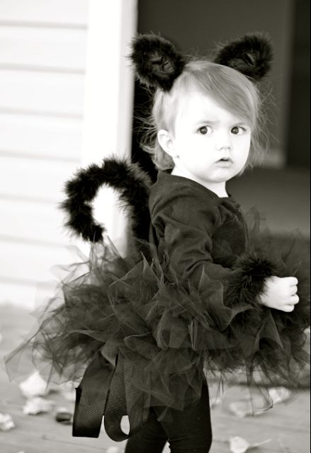 do it yourself divas: DIY: Black Cat Costume. @Kathy Chan Chan Cahanin this would be a cute halloween outfit for those future granddaughters :)