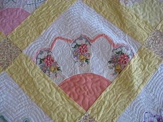 Handkerchief Grandmother's Fan Quilt