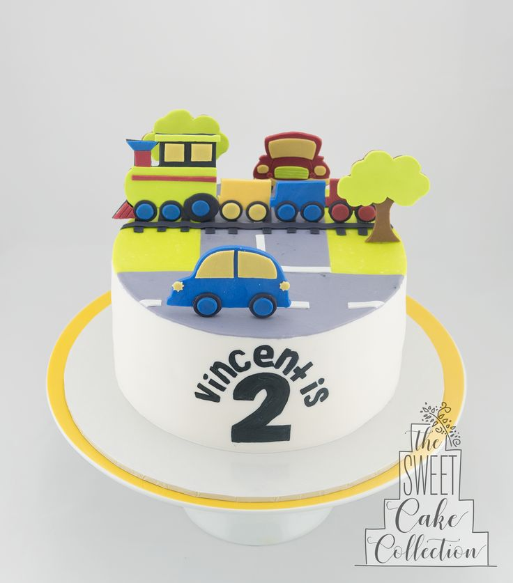 Cars and Trains Cake
