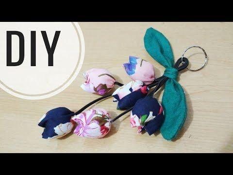DIY    Gantungan Kunci Tulip Dari Kain Perca Katun   Tutorial Keyring   Keychain   Recycle - YouTube