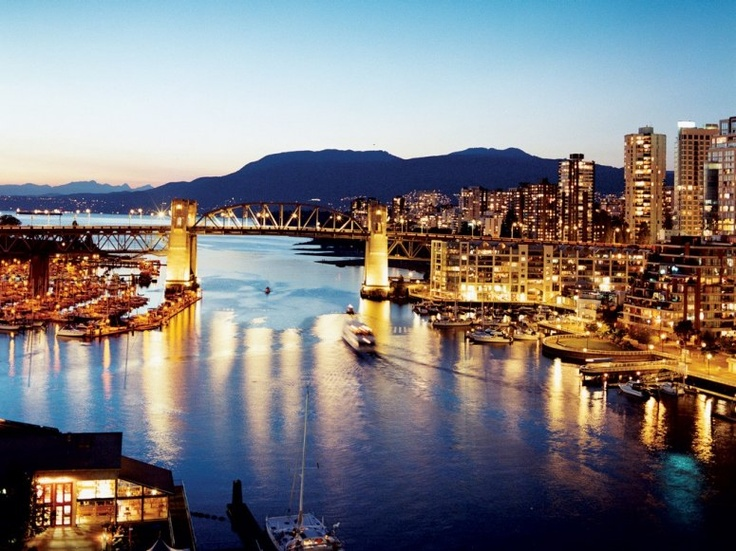 The Art Deco Burrard Bridge - connects downtown Vancouver with Kitsilano.