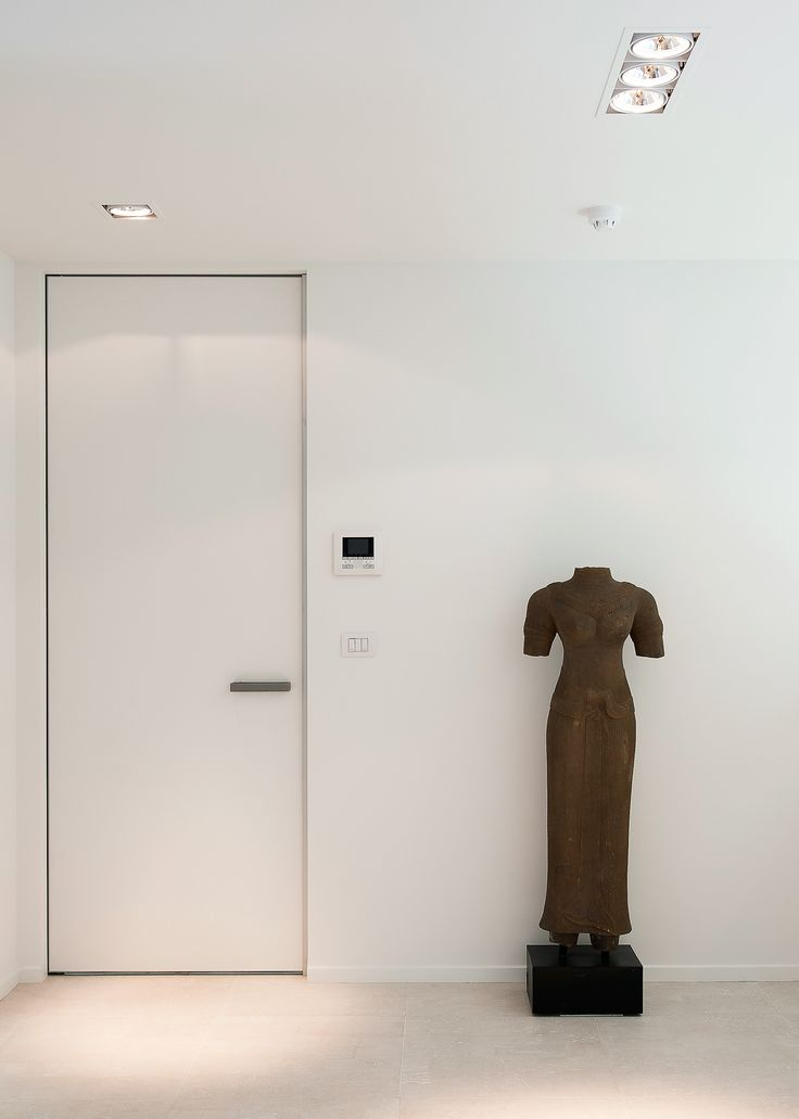 Minimalist Interior Door With Invisible Door Frame. Both The Frame And The  Door Panel Are