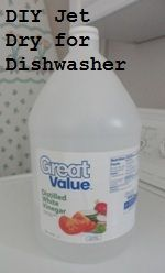 How to Remove Dishwasher Film (DIY Jet Dry) ~ Is your dishwasher leaving a cloudy film on all your dishes? This is a cheaper, more environmentally friendly alternative to Jet Dry.