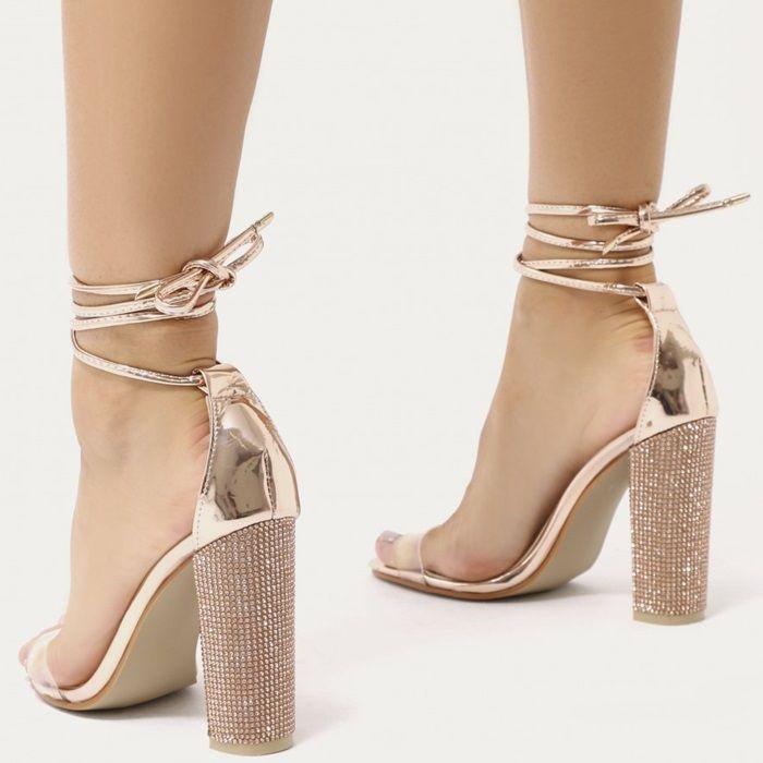 Glitter Block Heels In Gold Gold Block Heels Prom Heels Heels