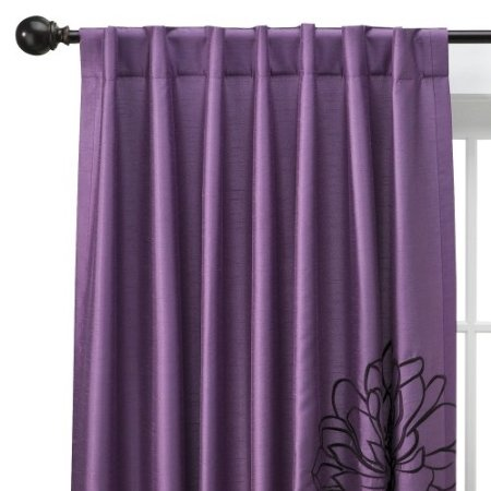 17 Best Images About Curtains On Pinterest Mirrored Nightstand Purple Walls And Black Trim