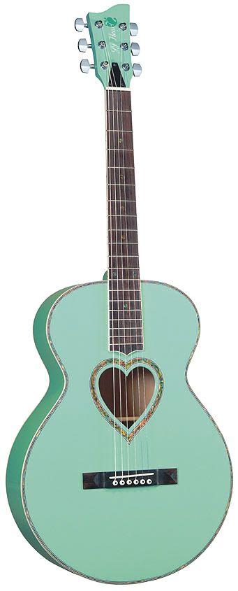 Jay Turser JJ-HEART Jumbo Single Cutaway Acoustic Guitar