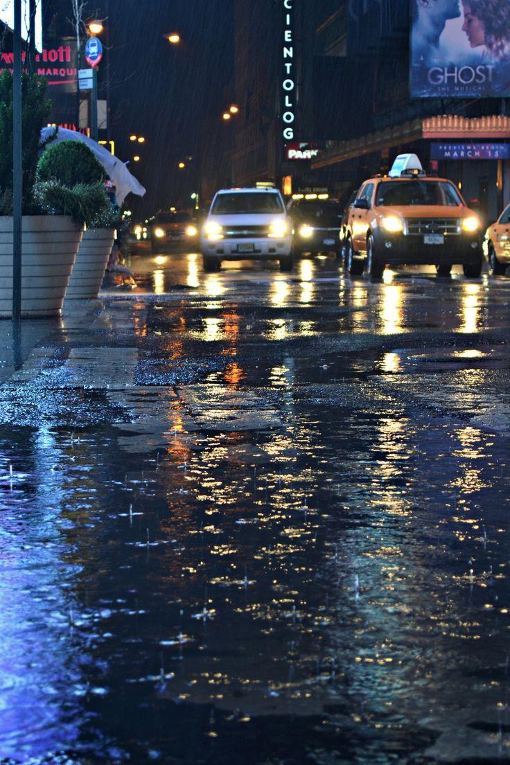 rainy night in the city