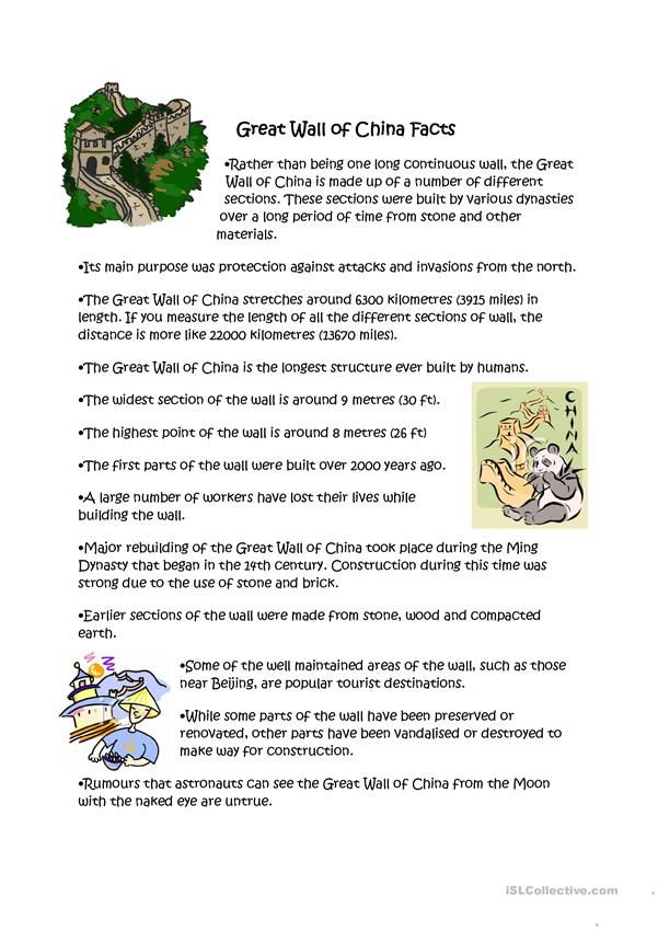Great Wall Of China Facts China Facts China For Kids Fun Facts About China
