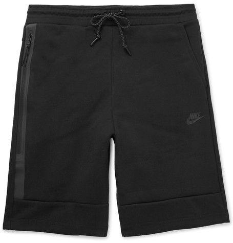 NIKE Cotton-Blend Tech Fleece Shorts. #nike #cloth #shorts