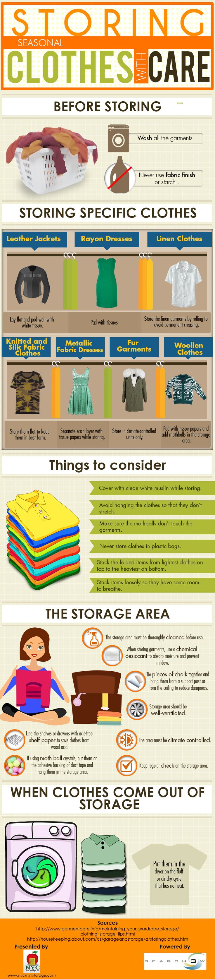 Storing Seasonal Clothes With Care #infographic
