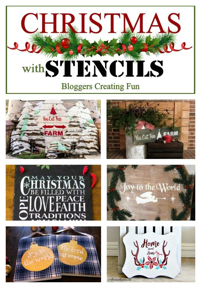 6 creative bloggers get together to come up with a host of creative Christmas stencil ideas.