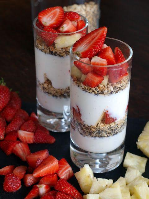 Strawberry/ Pineapple parfaits