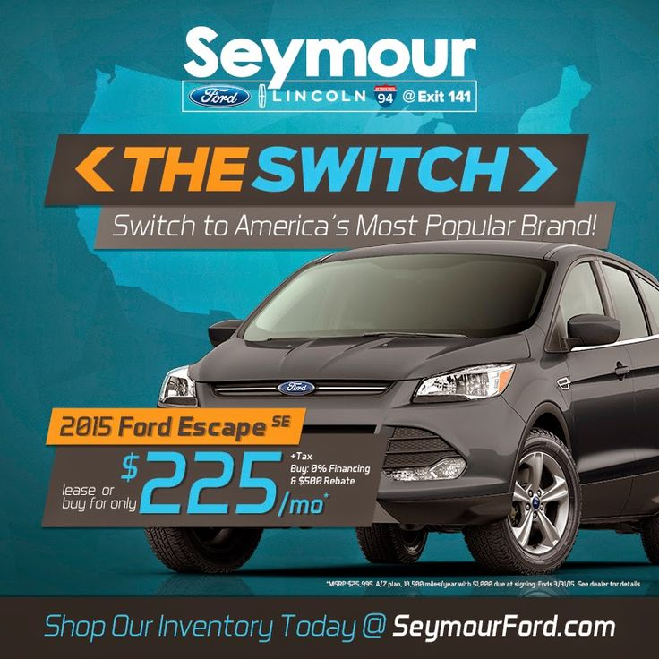 Make The Switch To A Ford With Help From Seymour Ford Lincoln Ford Switch Ford Motor Company