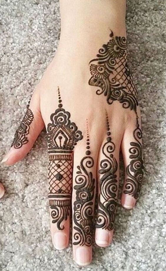 New Arabic Mehndi Design Back Hand