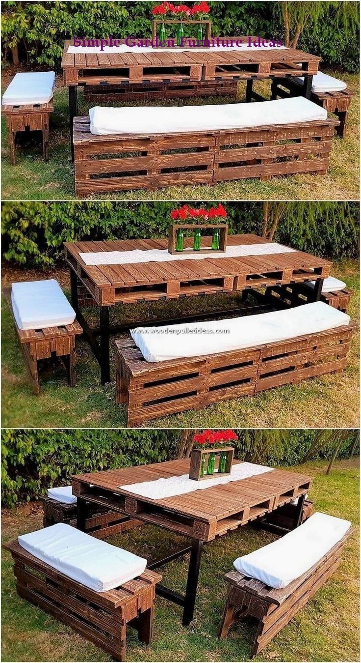 Most Affordable And Simple Garden Furniture Ideas 1 Old Pallets