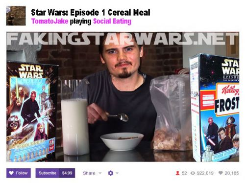 Jake Lloyd Broadcasts First Ever Star Wars Muk-Bang on Twitch