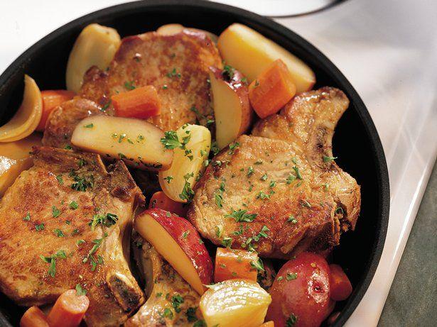 Pork Chop Skillet Dinner - husband and I both enjoyed it.  I did add a bit more broth.