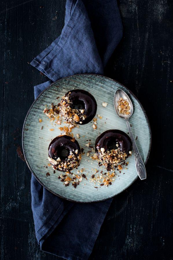 Chocolate praline donuts