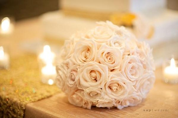 Simple ivory rose bridal bouquet wedding-ideas-i-like
