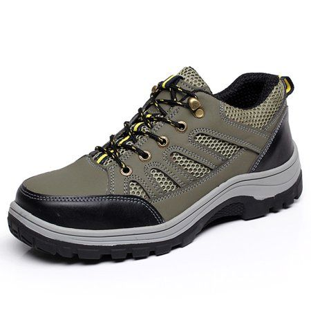 Men S Steel Toe Safety Shoes Work Sneakers Anti Slip Hiking