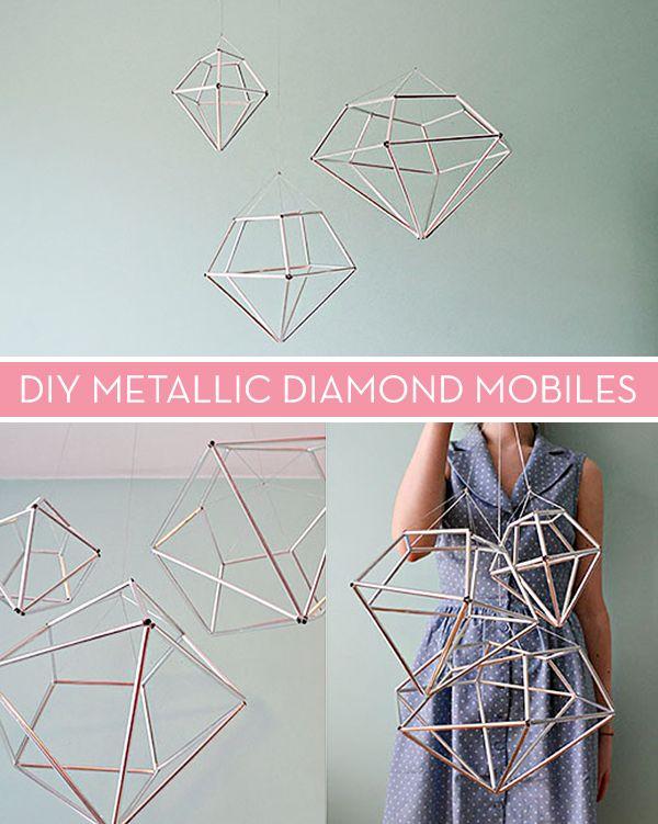 Make It: DIY Metallic Diamond Mobile » Curbly | DIY Design Community