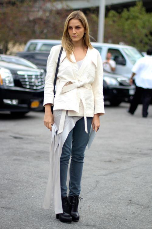 Gaia Repossi streetlook - NY Fashion week