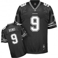 Cowboys #9 Tony Romo Black Shadow Stitched NFL Jersey