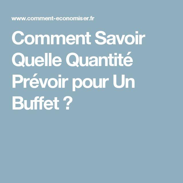 Comment Savoir Quelle Quantité Prévoir pour Un Buffet ?