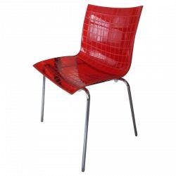 Chaise X3 en polycarbonate transparent par Marco Maran
