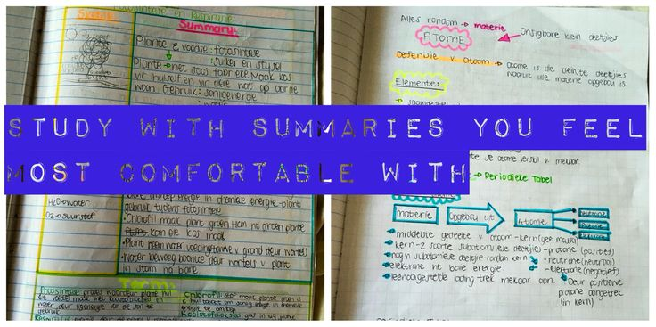 It will make you focus more and kind of enjoy studying your summaries