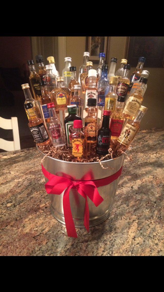 """DIY """"Booze Bouquet"""" for my boyfriend's 21st birthday. Such a fun idea!"""