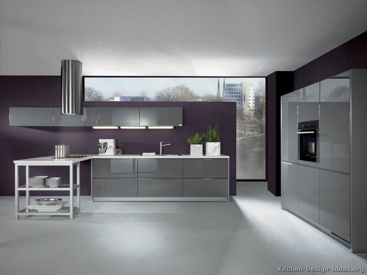 Modern gray kitchen cabinets 04 kitchen design for Alno kitchen cabinets