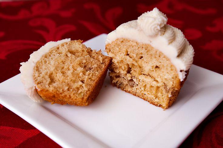 Maple Walnut Cupcake with vanilla buttercream