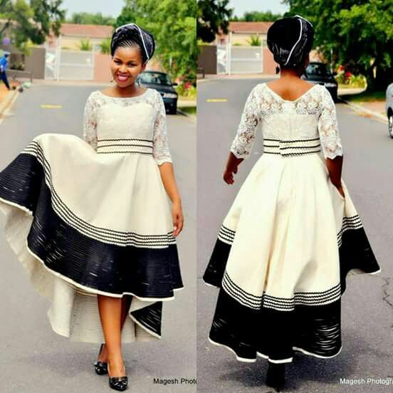 Xhosa traditional outfit ~African fashion, Ankara, kitenge, kente, African women dresses, African prints, Braids, Nigerian wedding, Ghanaian fashion, African wedding ~DKK More