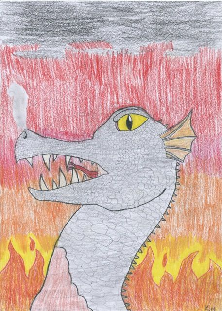 'Mysterious Dragon' by Kyla, age 10.