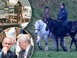 Prince Andrew is pictured riding at Windsor as its revealed he used pseudonym to set up secret firm