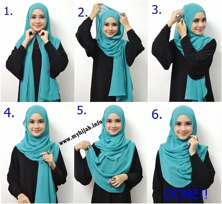 how to wear simple hijab step by step