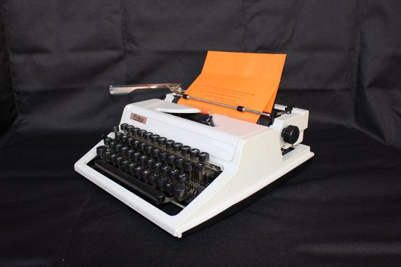 Working Typewriter Erika Vintage Office Decor by SoYesterdaySoCool