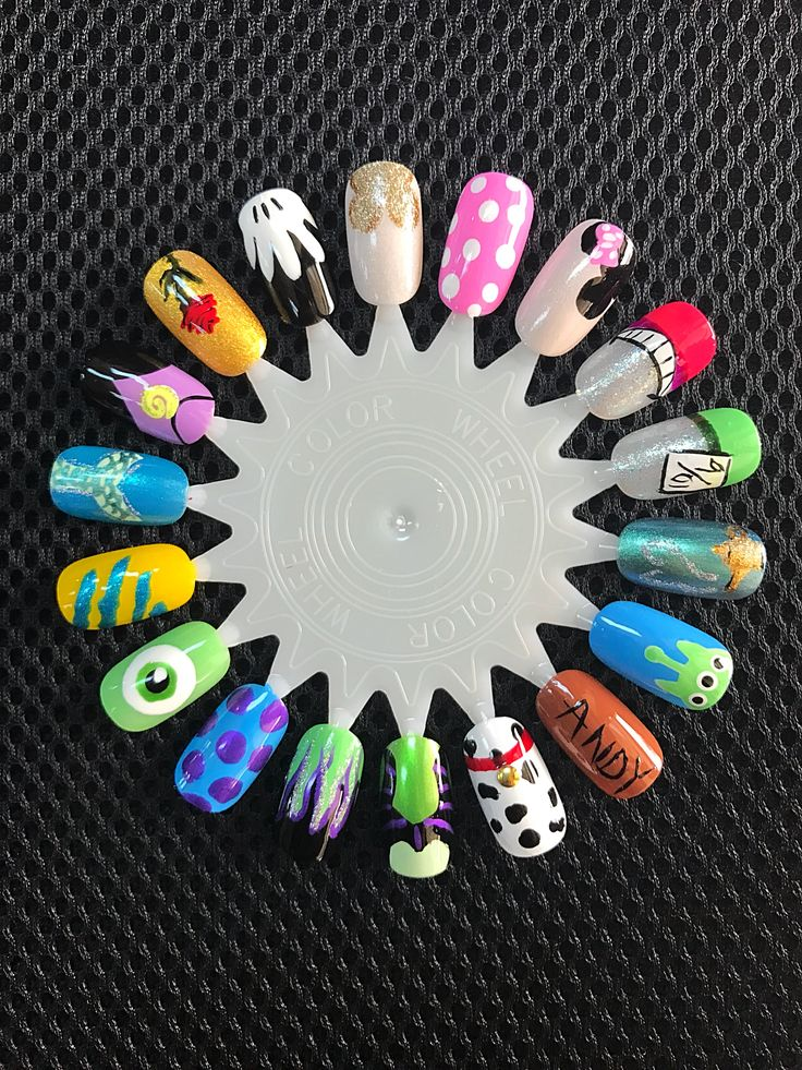 Disney Nail Art ! Disney Pixar ! Disney Princesses! Monster Inc Toy Story Little Mermaid Alice in Wonderland