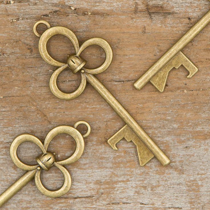 50 Key Bottle Openers - Antique Gold Bell Keys