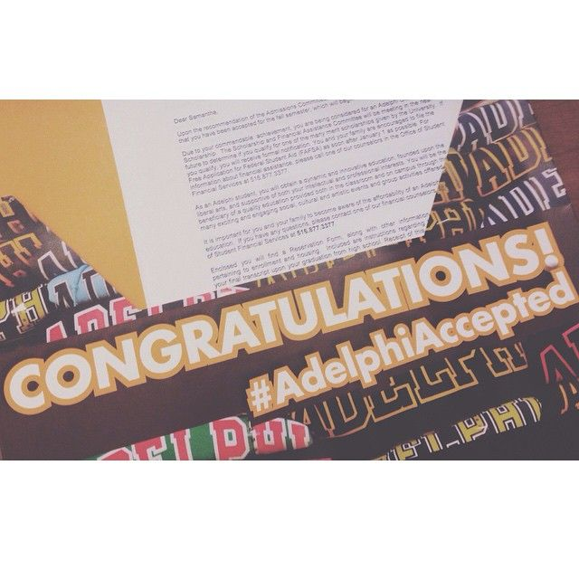 Are you #AdelphiAccepted? Photo Credit: @Ashley Meers