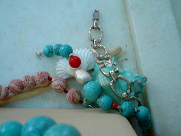 handmade bracelets of silver 925, multicolor lava,coral, crystal and turquoise