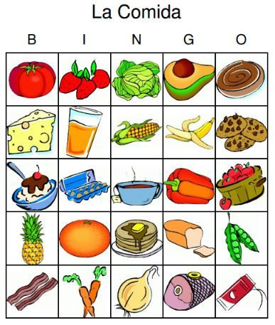 Mexican Food Vocabulary Words