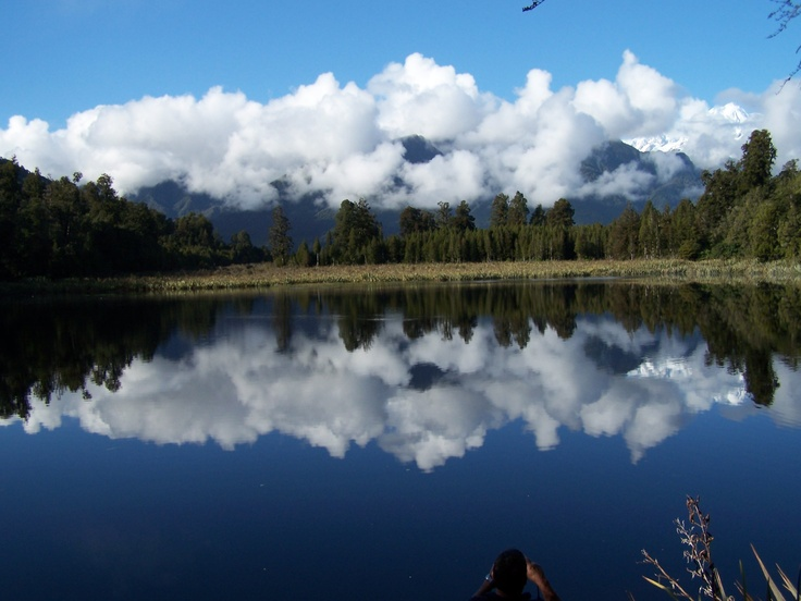 Coming back up the South Island NZ we walked into Mirror lake ( Lake Matheson)  So worth the short walk.
