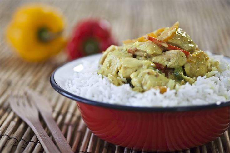 Ασιατικό κοτόπουλο κάρυ με ρύζι | marathos