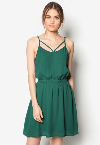 Strappy Back Fit And Flare Dress
