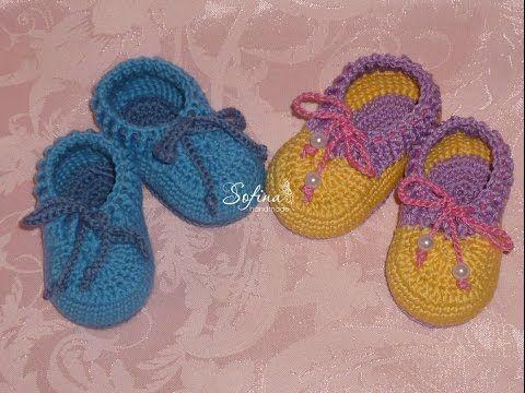 Пинетки моксы/ Вязание для начинающих /Crochet baby booties