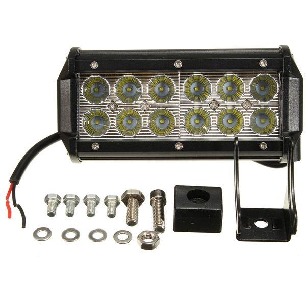 10-30V 36W 6500K LED Barra de luz de trabajo Haz de inundación Lámpara para Off Road ATV UTE SUV
